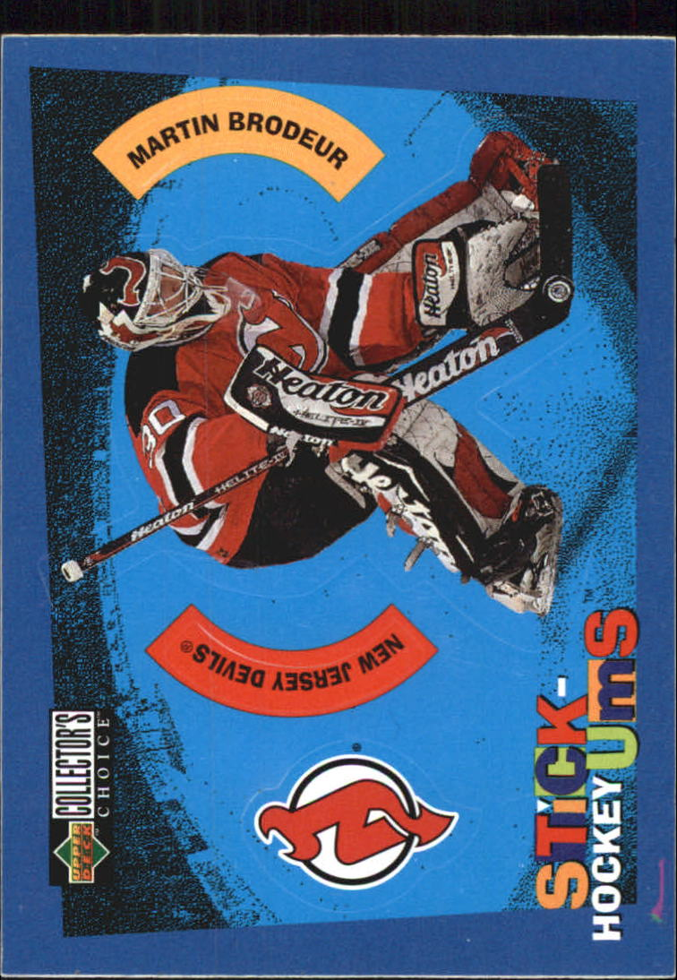 1997-98 Collector's Choice Stick 'Ums #S3 Martin Brodeur
