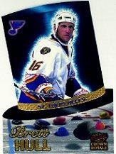 1997-98 Crown Royale Hat Tricks Die-Cuts #16 Brett Hull