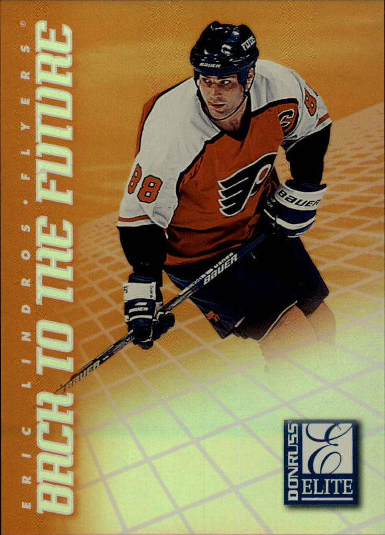 1997-98 Donruss Elite Back to the Future #1 Eric Lindros/Joe Thornton