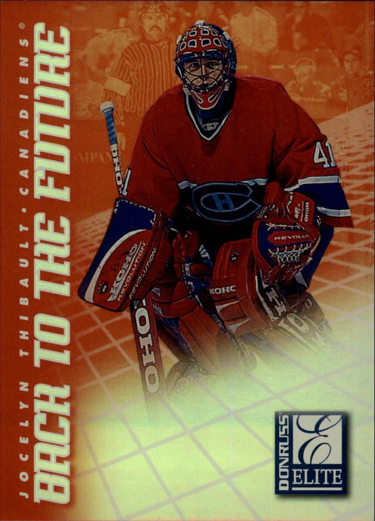 1997-98 Donruss Elite Back to the Future #2 Jocelyn Thibault/Marc Denis