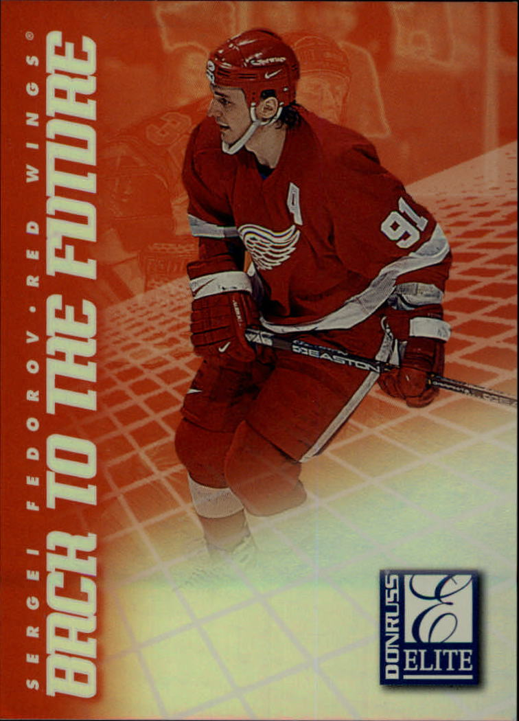1997-98 Donruss Elite Back to the Future #5 Sergei Fedorov/Peter Forsberg