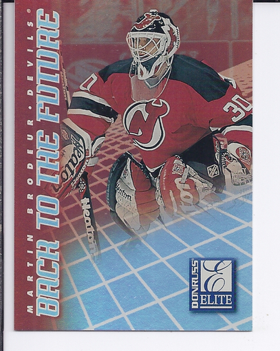 1997-98 Donruss Elite Back to the Future #7 Martin Brodeur/Roberto Luongo