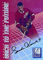 1997-98 Donruss Elite Back to the Future Autographs #8 Gordie Howe/Steve Yzerman