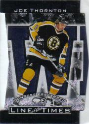 1997-98 Donruss Preferred Line of the Times #2B Joe Thornton