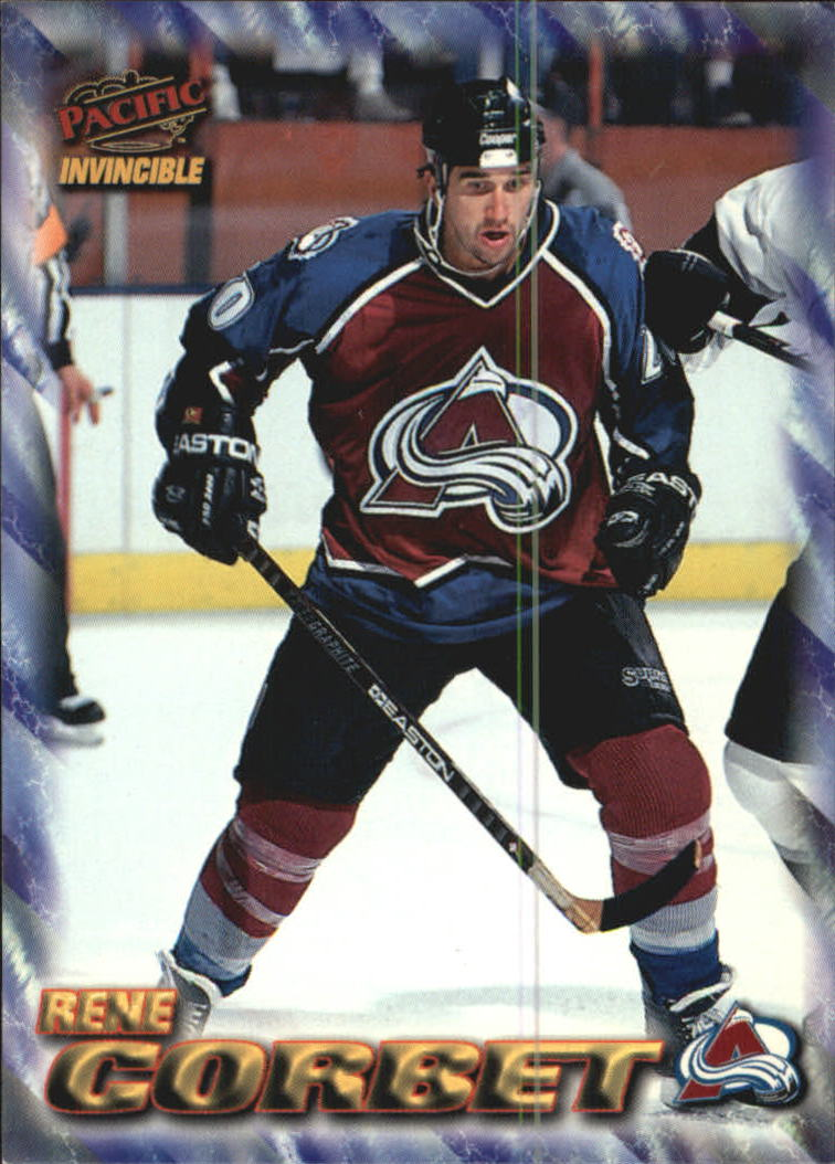 1997-98 Pacific Invincible NHL Regime #50 Rene Corbet