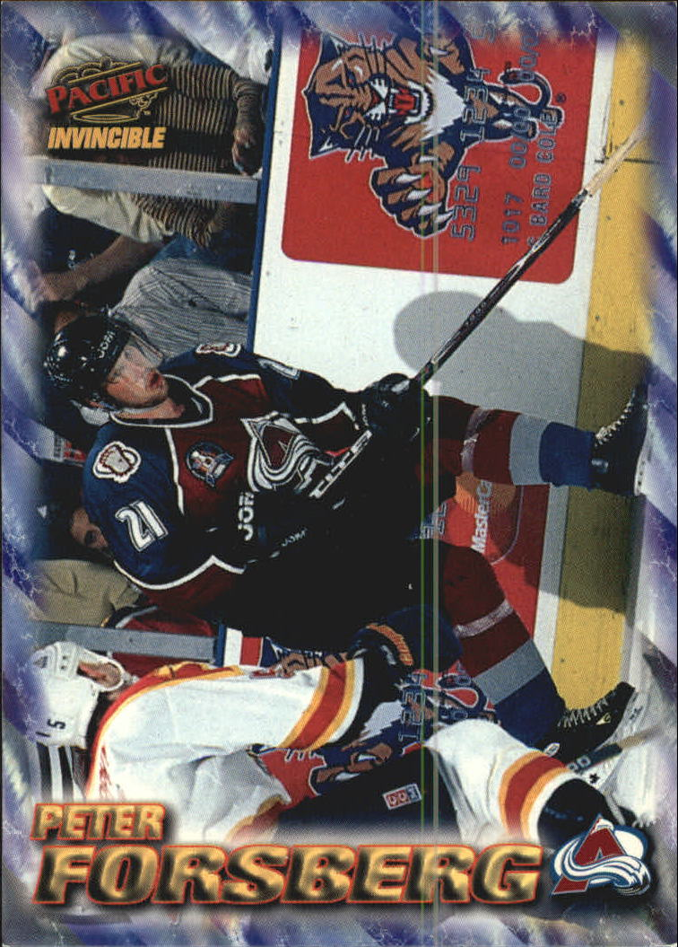 1997-98 Pacific Invincible NHL Regime #51 Peter Forsberg