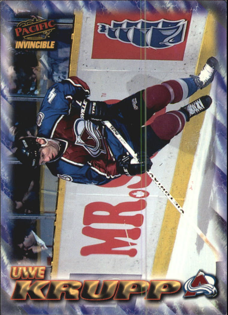 1997-98 Pacific Invincible NHL Regime #53 Uwe Krupp