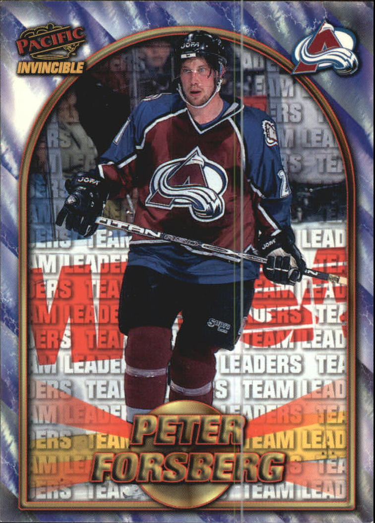 1997-98 Pacific Invincible NHL Regime #216 Peter Forsberg TL