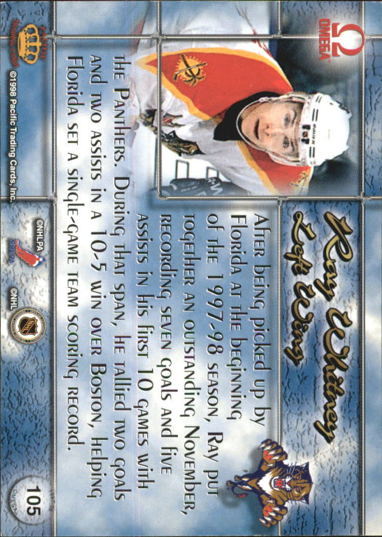 1997-98 Pacific Omega Copper #105 Ray Whitney back image