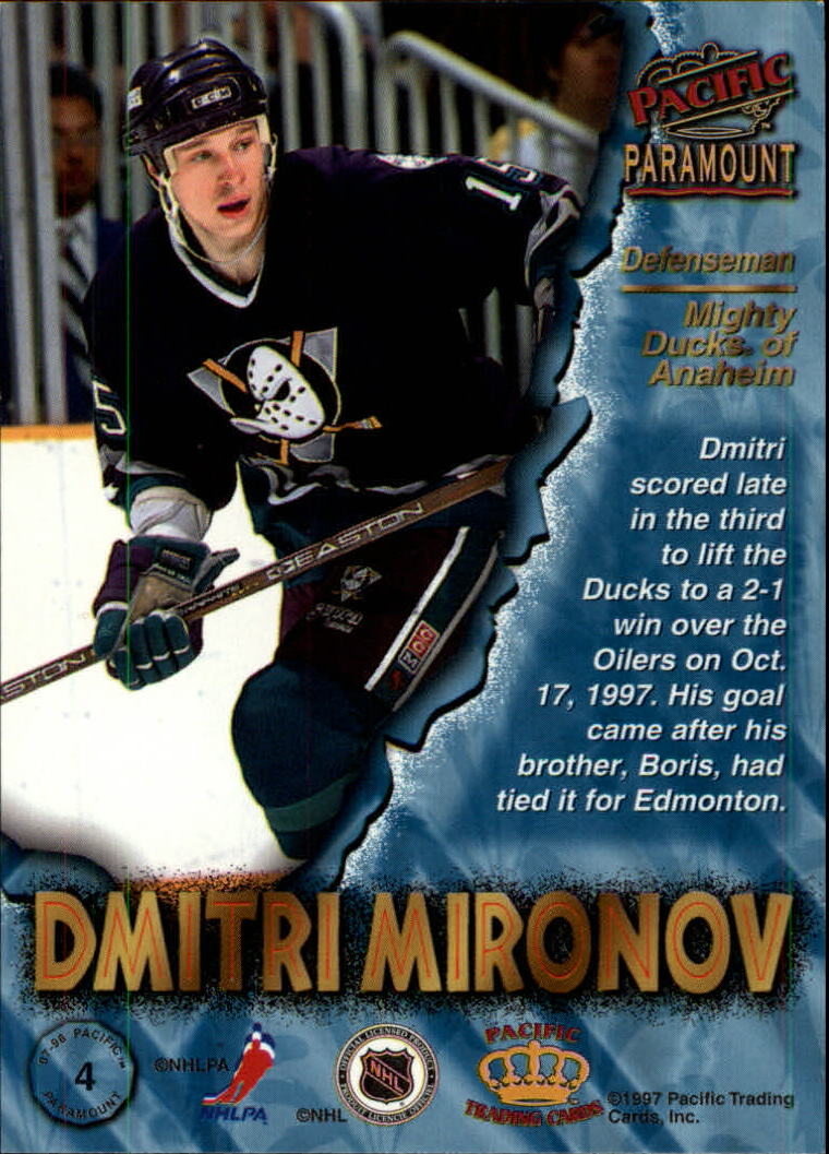 1997-98-Paramount-Hockey-Cards-Pick-From-List thumbnail 9