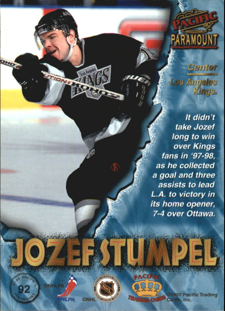 1997-98 Paramount Copper #92 Jozef Stumpel back image