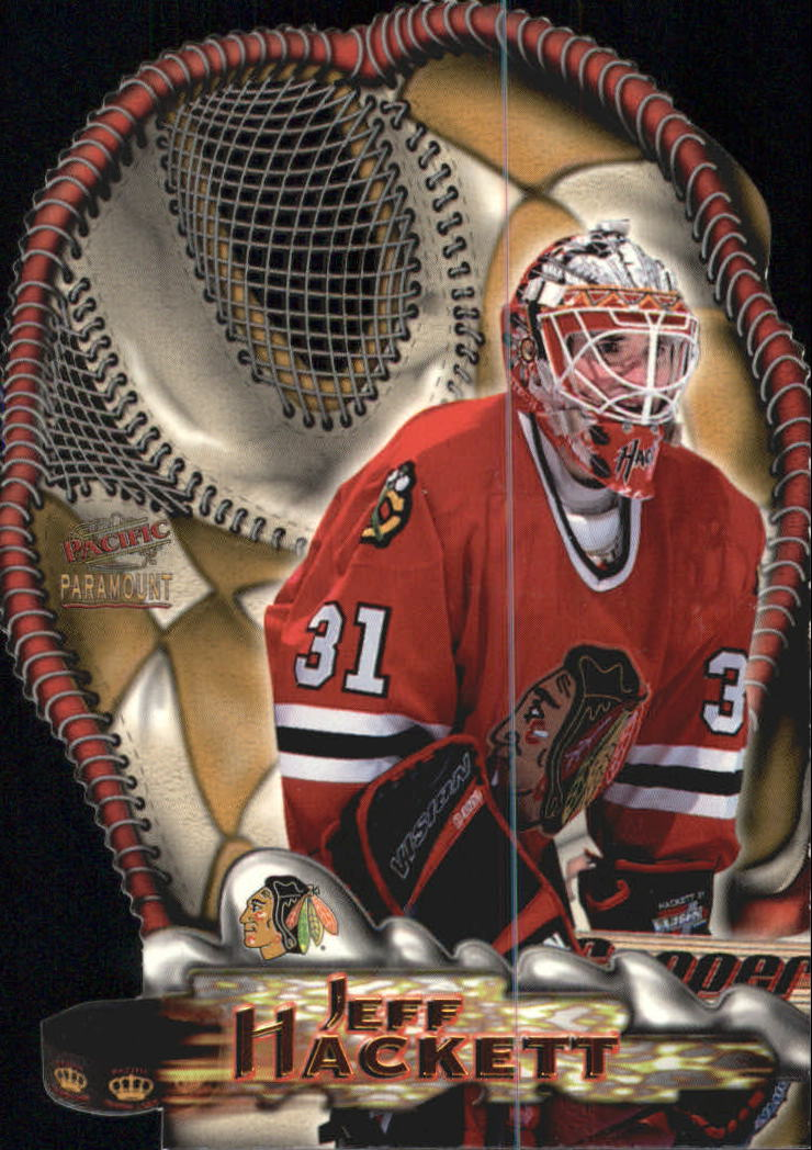 1997-98 Paramount Glove Side Laser Cuts #4 Jeff Hackett