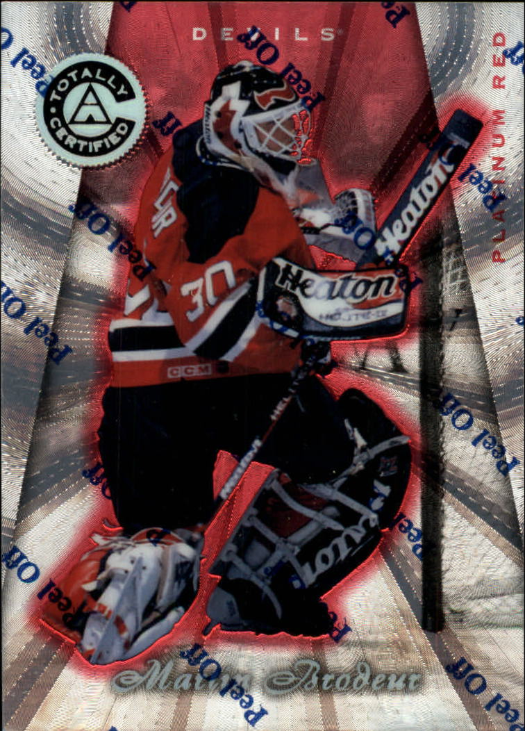 1997-98 Pinnacle Totally Certified Platinum Red #3 Martin Brodeur