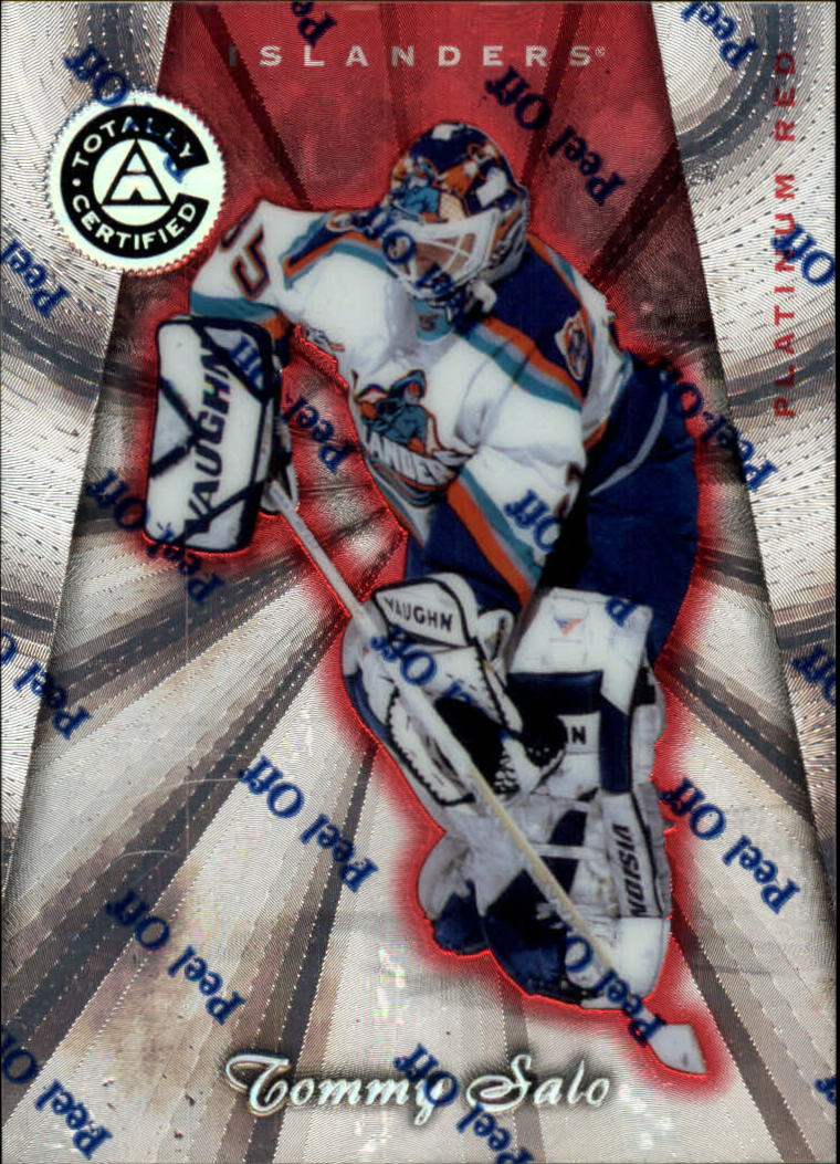 1997-98 Pinnacle Totally Certified Platinum Red #24 Tommy Salo