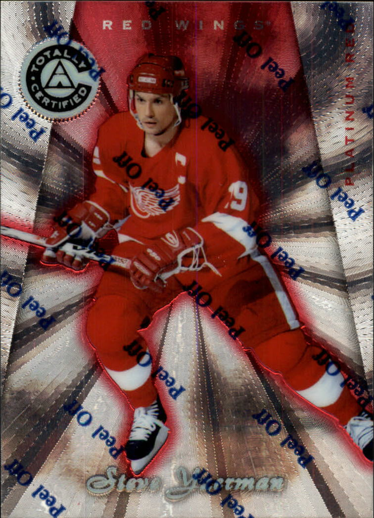 1997-98 Pinnacle Totally Certified Platinum Red #38 Steve Yzerman