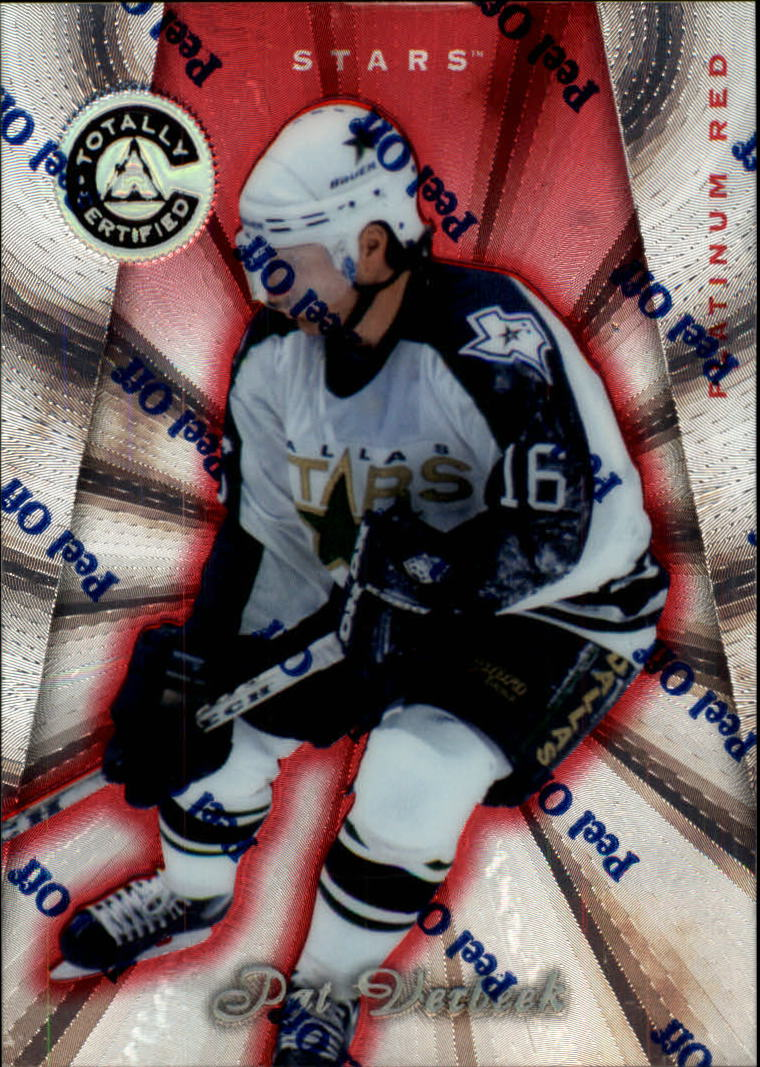 1997-98 Pinnacle Totally Certified Platinum Red #111 Pat Verbeek