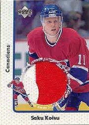 1997-98 Upper Deck Game Jerseys #GJ9 Saku Koivu