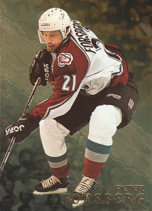 1998-99 Be A Player Gold #35 Peter Forsberg