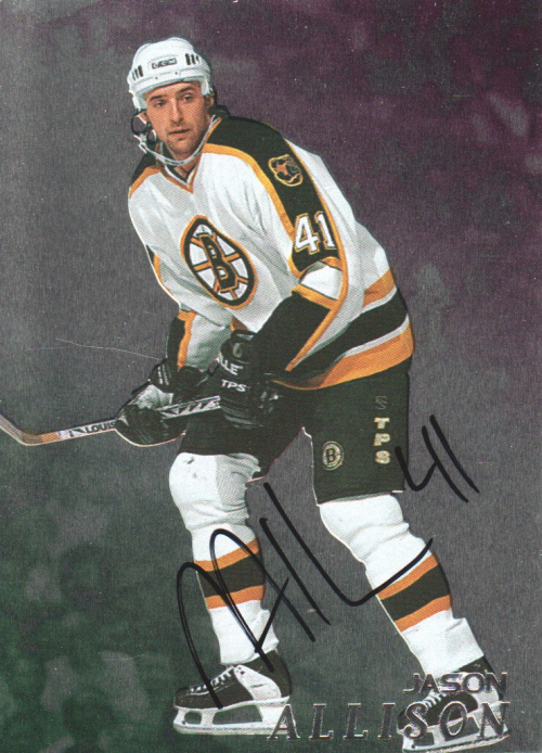 1998-99 Be A Player Autographs #156 Jason Allison