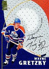 1998-99 Be A Player Playoff Game Used Jersey Autographs #G1 Wayne Gretzky