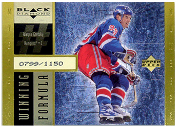 1998-99 Black Diamond Winning Formula Gold #WF18 Wayne Gretzky/1150