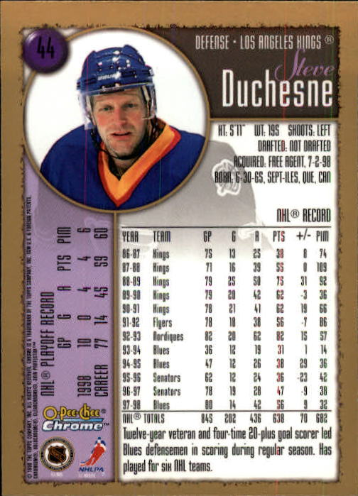 1998-99-OPC-O-Pee-Chee-Chrome-Hockey-Cards-Pick-From-List miniature 55