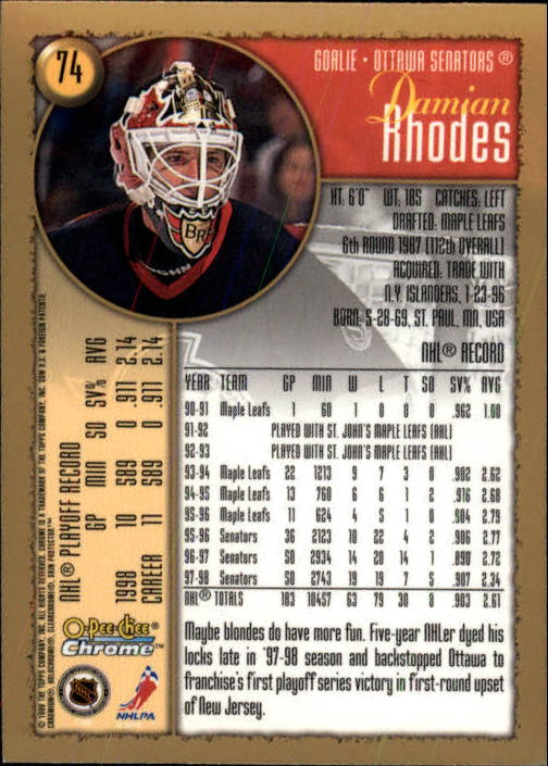 1998-99-OPC-O-Pee-Chee-Chrome-Hockey-Cards-Pick-From-List miniature 97