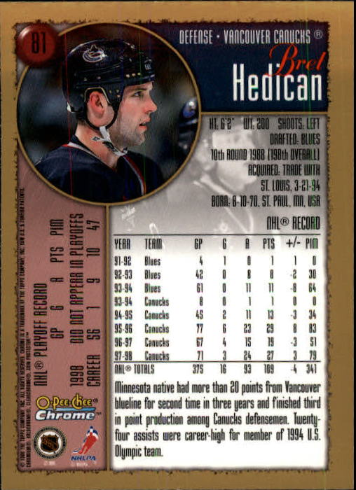 1998-99-OPC-O-Pee-Chee-Chrome-Hockey-Cards-Pick-From-List miniature 107