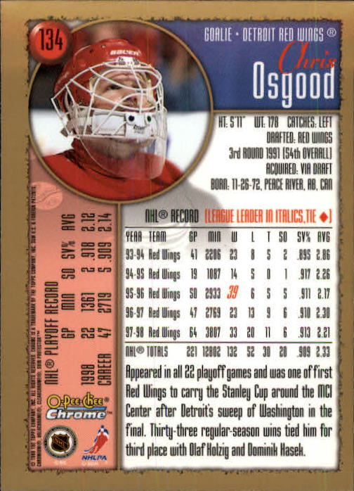 1998-99-OPC-O-Pee-Chee-Chrome-Hockey-Cards-Pick-From-List miniature 179