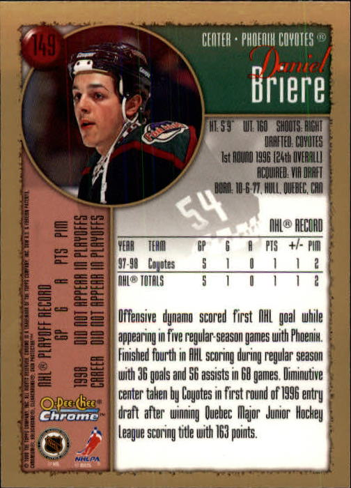 1998-99-OPC-O-Pee-Chee-Chrome-Hockey-Cards-Pick-From-List miniature 201