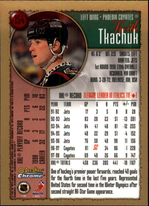 1998-99-OPC-O-Pee-Chee-Chrome-Hockey-Cards-Pick-From-List miniature 209