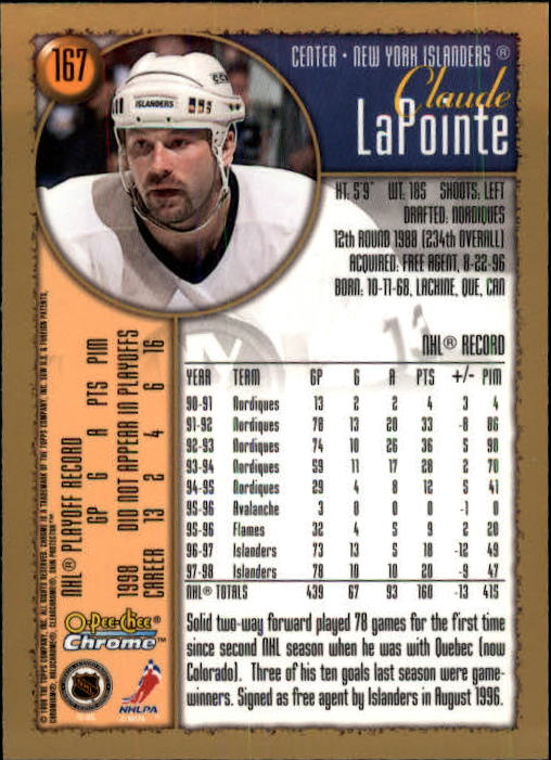 1998-99-OPC-O-Pee-Chee-Chrome-Hockey-Cards-Pick-From-List miniature 227