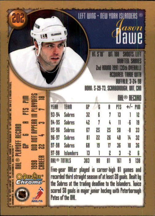 1998-99-OPC-O-Pee-Chee-Chrome-Hockey-Cards-Pick-From-List miniature 277