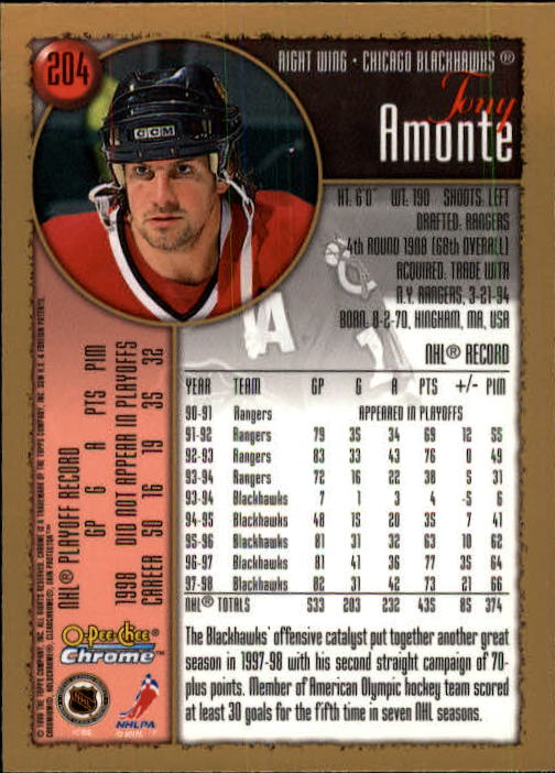 1998-99-OPC-O-Pee-Chee-Chrome-Hockey-Cards-Pick-From-List miniature 281