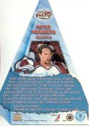 1998-99 Pacific Cramer's Choice #3 Peter Forsberg back image