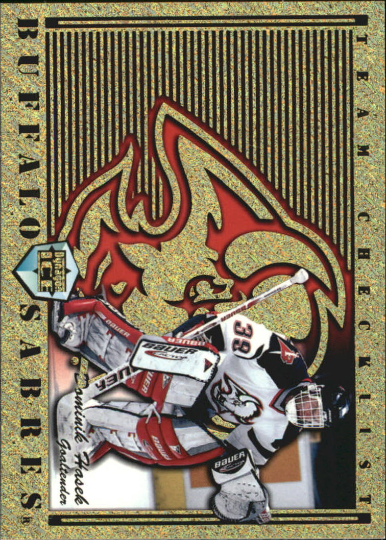 1998-99 Pacific Dynagon Ice Team Checklists #3 Dominik Hasek