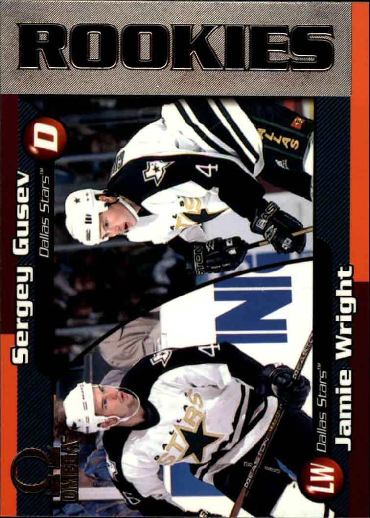 1998-99 Pacific Omega #78 Sergei Gusev RC/Jamie Wright