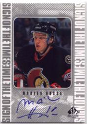 1998-99 SP Authentic Sign of the Times #MH Marian Hossa