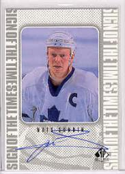 1998-99 SP Authentic Sign of the Times #MS Mats Sundin