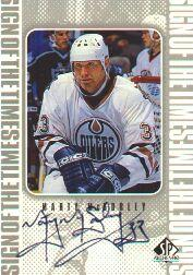 1998-99 SP Authentic Sign of the Times #MMC Marty McSorley