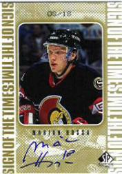 1998-99 SP Authentic Sign of the Times Gold #MH Marian Hossa/18