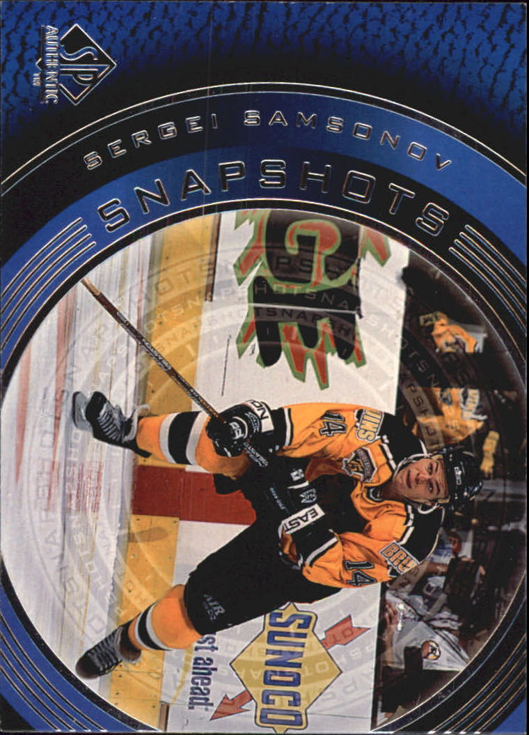1998-99 SP Authentic Snapshots #SS26 Sergei Samsonov