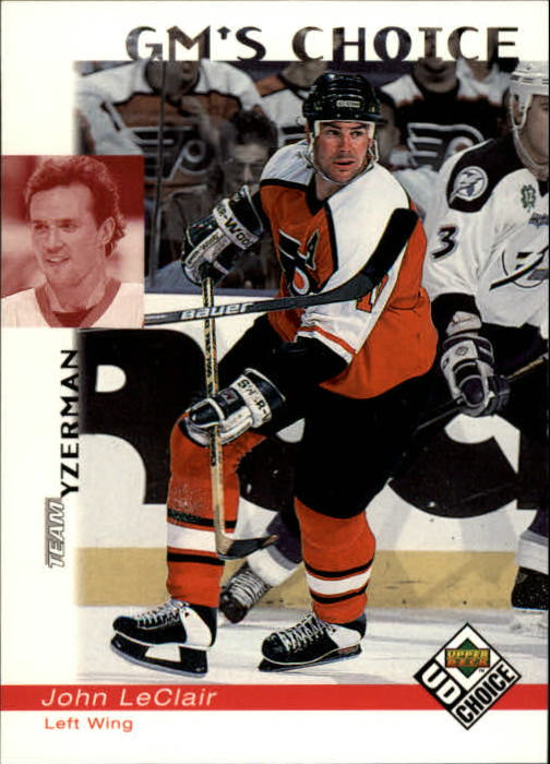 1998-99 UD Choice #235 John LeClair GM