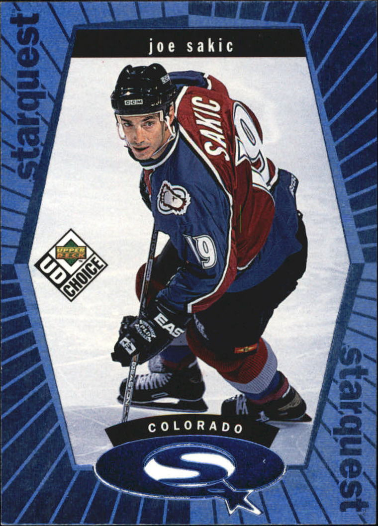 1998-99 UD Choice StarQuest Blue #SQ11 Joe Sakic