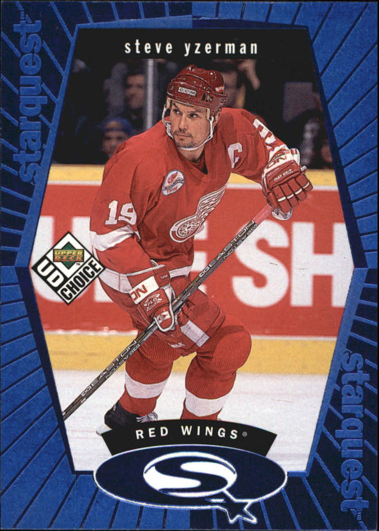 1998-99 UD Choice StarQuest Blue #SQ18 Steve Yzerman front image