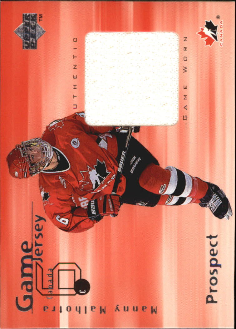 1998-99 Upper Deck Game Jerseys #GJ12 Manny Malhotra