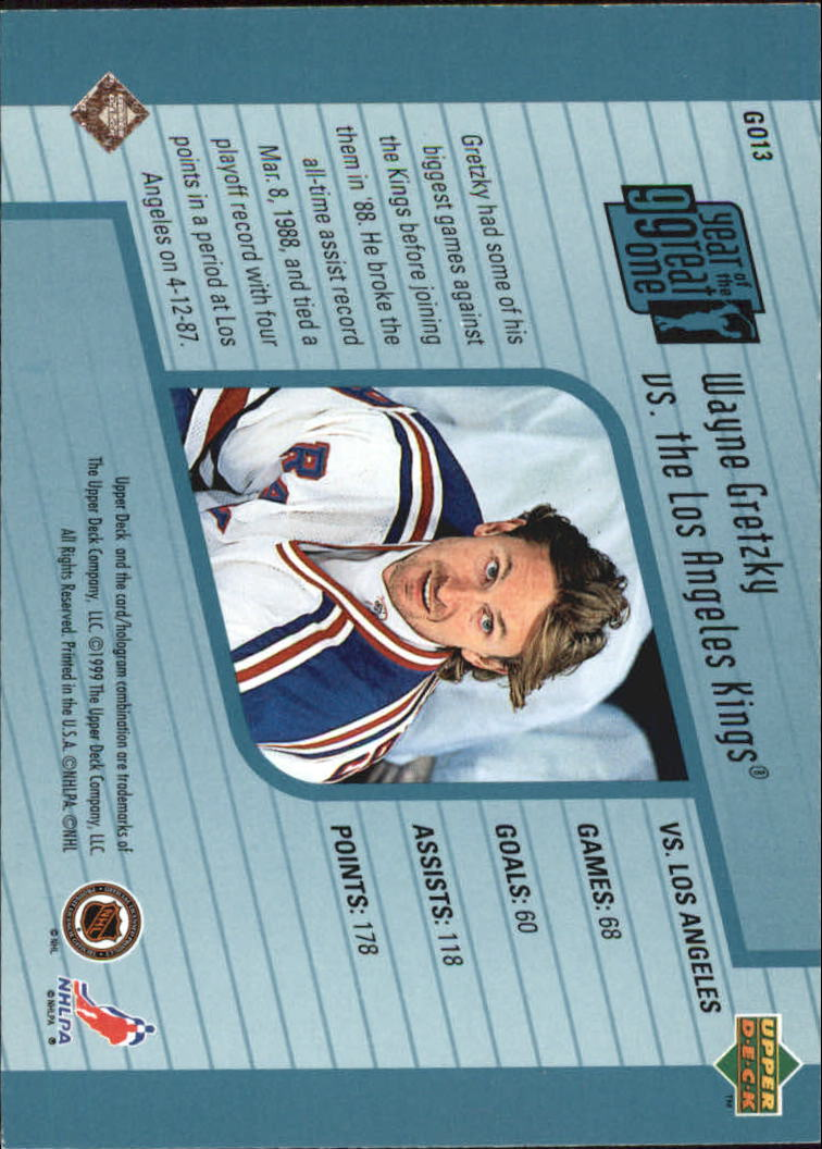 1998-99 Upper Deck Year of the Great One #GO13 Wayne Gretzky back image