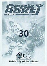 1998-99 Czech DS Stickers #30 Ales Tomasek