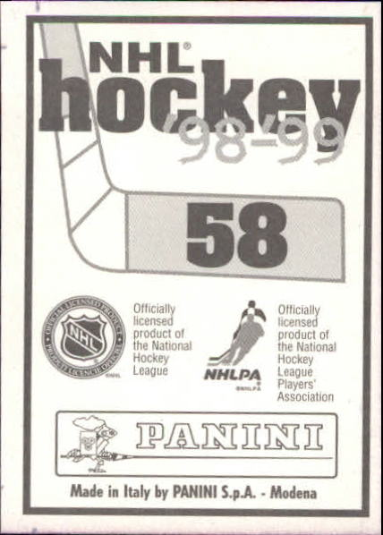 1998-99 Panini Stickers #58 Ray Whitney back image