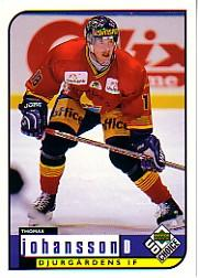 1998-99 Swedish UD Choice #52 Thomas Johansson